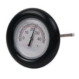 Фильтры, насосы и хлоргенераторы - Круглый термометр для бассейна CHEMOFORM черный, 0