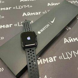 Умные часы и браслеты - Apple Watch Series SE 44mm Space Gray Nike+, 0