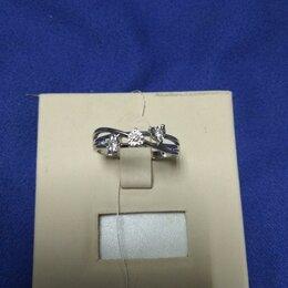 Кольца и перстни - 9ян) Кольцо бел/золото 585 арт.51053, 0