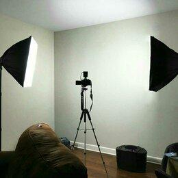 Фотовспышки - Софтбоксы 2шт Лампы 8шт LED6500k e27, 0