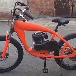 """Велосипеды - Велосипед AIR 26"""", фэтбайк, с веломотором (4-х тактный), 0"""