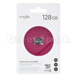 Карты памяти - Карта памяти MicroSD 128GB VIXION Class 10 без адаптера, 0