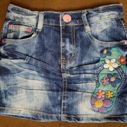 Юбки - Джинсовая детская юбка, 0