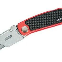 Пилы, ножовки, лобзики - Нож 18 мм складной трапеция +10 лезвий MATRIX, 0