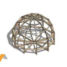 Готовые строения - Купольный дом конструктор Z4, 0