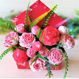 Цветы, букеты, композиции - Букет из мыла ручной работы, пионы, 0