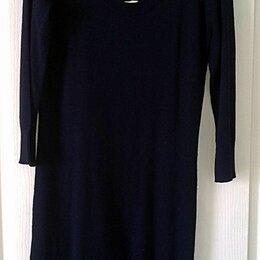 Платья - Трикотажное платье темно-синее H&М, размер S, 0
