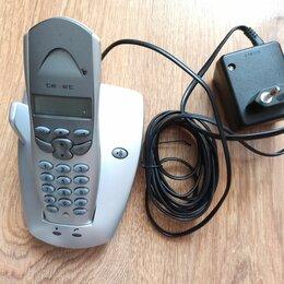 Проводные телефоны - Телефон б/у бесшнуровой в рабочем состоянии, 0