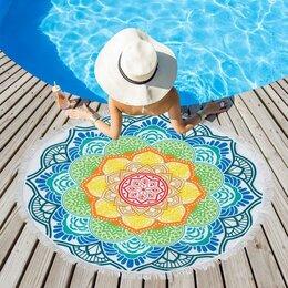 Туалетная бумага и полотенца - Полотенце пляжное Этель 'Мандалы', d 150см, 0