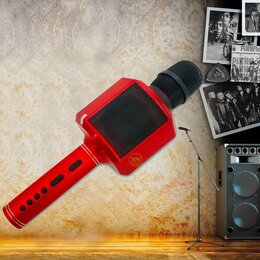 Микрофоны и усилители голоса - Караоке микрофон Bass с изменением голоса, 0