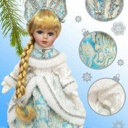 """Новогодние фигурки и сувениры - Кукла декоративная """"Снегурочка Машенька"""", на подставке, 30 см, арт. 35814, 0"""