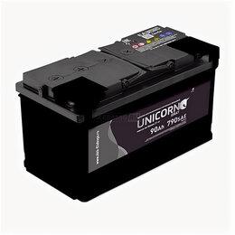 Аккумуляторы и комплектующие - Аккумулятор Unicorn Grey 90 Ач 720А прямая полярность, 0