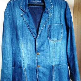 Пиджаки - мужской джинсовый пиджак, 0