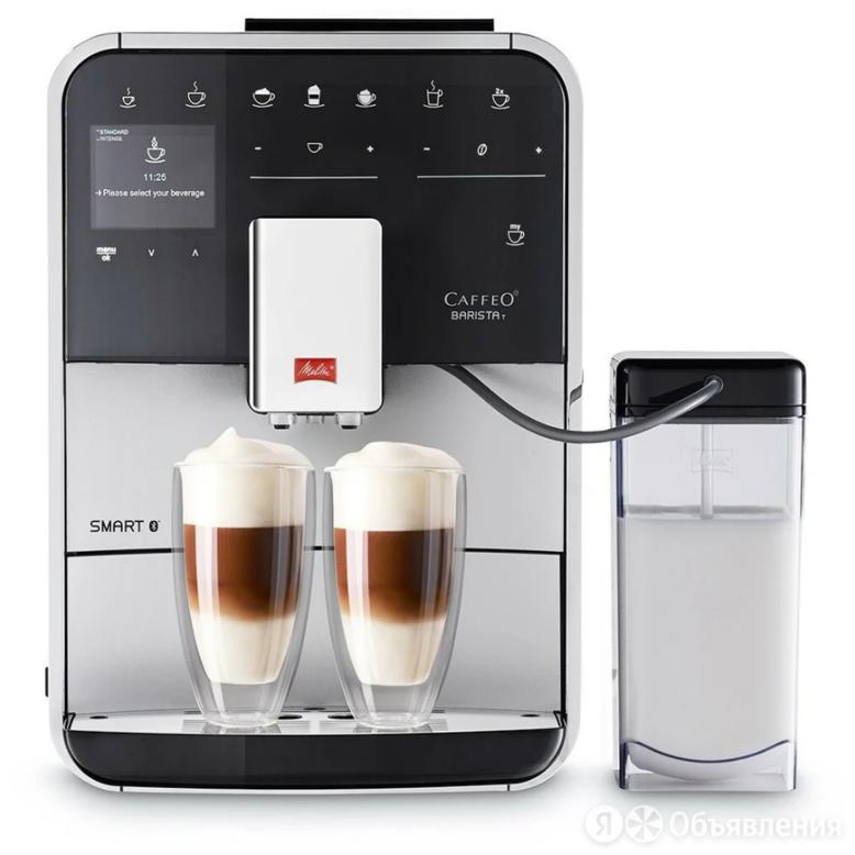 Кофемашина Melitta Caffeo F 840-100 1450Вт серебристый/черный по цене 91489₽ - Кофеварки и кофемашины, фото 0