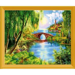 Рукоделие, поделки и сопутствующие товары - Пейзаж с мостиком Артикул : L 555, 0