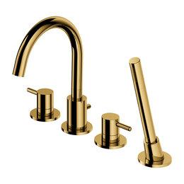 Краны для воды -  Смеситель для ванны на борт Omnires Y Y1232GL (золото), 0