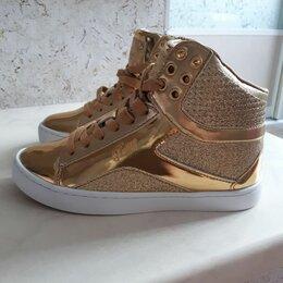 Ботинки - Сникерсы золотые обувь, 0