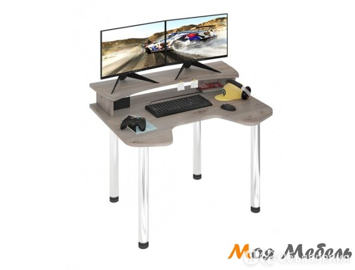 СКЛ-Игр120МО+НКИЛ120 компьютерный стол по цене 10100₽ - Компьютерные и письменные столы, фото 0
