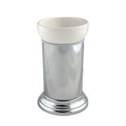 Мыльницы, стаканы и дозаторы - Migliore Mirella Стакан настольный, керамика, хром 27671+28141, 0