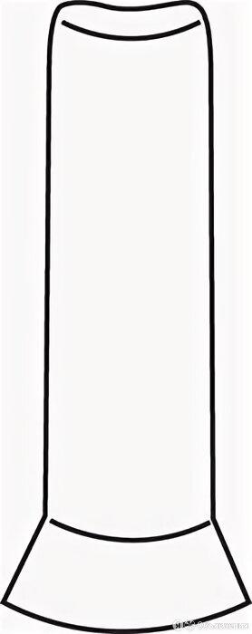LEONARDO Basic Outside Corner Black 3X10 по цене 220₽ - Плитка из керамогранита, фото 0