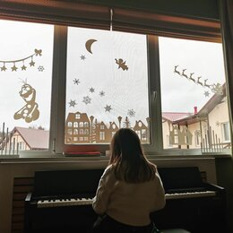 Новогодний декор и аксессуары - Украшения на окна новогодние оформление окон фигурки игрушки подарок новый год, 0
