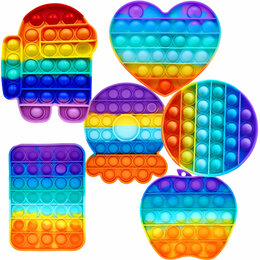 Игрушки-антистресс - Антистресс радужная пупырка. Поп ит., 0