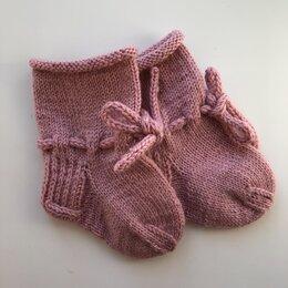 Носки - Пинетки носочки для новорожденного, ручная работа, 0