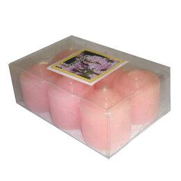 Декоративные свечи - Набор шесть Розовых свечей 3,5x4см, 0