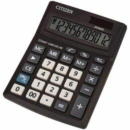 Калькуляторы - Калькулятор  настольный  Citizen Business Line  CMB1201-BK  12 раз., 100*136мм,, 0