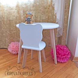 Столы и столики - Комплект - детский стульчик мишка и столик, 0