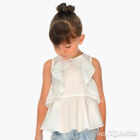 Блузка с воланами Mayoral для девочек, 3 года по цене 1698₽ - Рубашки и блузы, фото 0