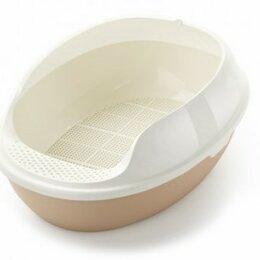 Биотуалеты - Туалет овальный с бортом с решеткой  50*38*20 бежевый, 0