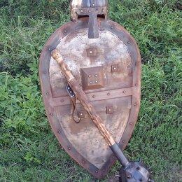 Военные вещи - Щит,булава и шлем ратника. Полноразмерные., 0