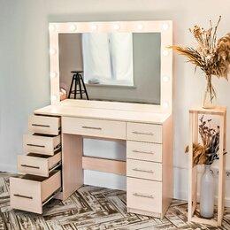 Столы и столики - Гримёрный стол и гримёрное зеркало с лампами, 0