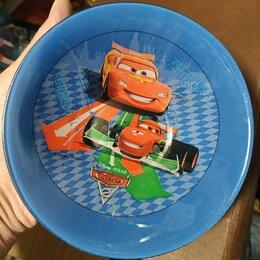 Миски и дуршлаги -  стеклянная миска детская Машинки, цветное стекло, 0
