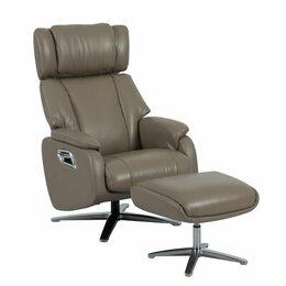 Кресла - Кресло с реклайнером и подставкой для ног dm02009 кофе с молоком, 0
