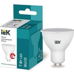 Лампочки - Лампа светодиодная ECO PAR16 софит 7Вт 230В 4000К GU10 IEK LLE-PAR16-7-2..., 0