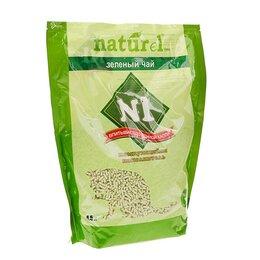Наполнители для туалетов - Наполнитель комкующийся '1 NATUReL 'Зеленый чай', 4,5 л, 0