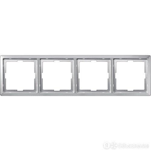 MERTEN Artec РАМКА 4 поста, АЛЮМИНИЙ, MTN481460 по цене 6300₽ - Электроустановочные изделия, фото 0