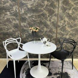 Столы и столики - Стол обеденный круглый белый, d80 см, 0