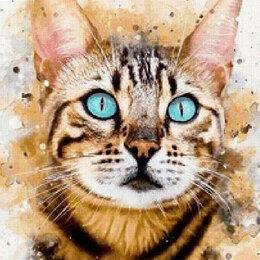 Картины, постеры, гобелены, панно - Акварельная кошечка Артикул : GFR 5079, 0
