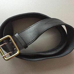 Ремни, пояса и подтяжки - Ремень офицерский кожаный черный_коричневый, 0
