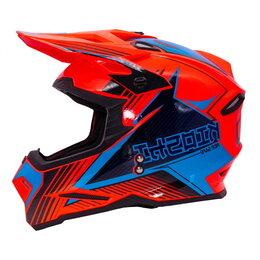 Мотоэкипировка - Шлем KIOSHI Holeshot 801 кроссовый оранжевый/синий, 0
