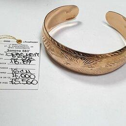 Браслеты - Золотой браслет 18.89г 583пр 16см, 0