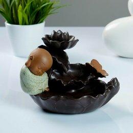 """Ароматерапия - Благовоние на подставке """"Бабочка на лотосе"""", аромат лаванды, 14 × 16 × 12 см, 0"""