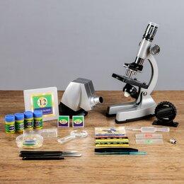 Микроскопы - Микроскоп с проектором, кратность увеличения 50-1200х, с подсветкой,, 0