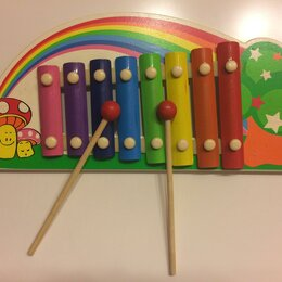 Детские музыкальные инструменты - Металлофон Радуга детский, 0