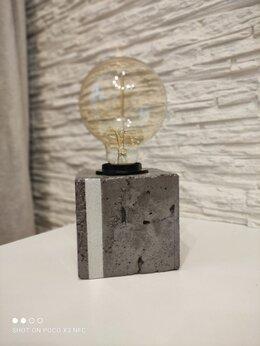 Настольные лампы и светильники - Светильник настольный из бетона , 0
