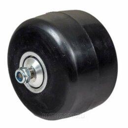 Лыжероллеры и ботинки - Ролик классический каучук 74 х 45 мм без храпового механизма, 0