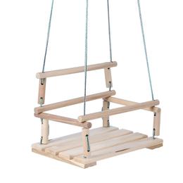 Развивающие игрушки - Качели детские подвесные, деревянные, сиденье 30×40см, 0